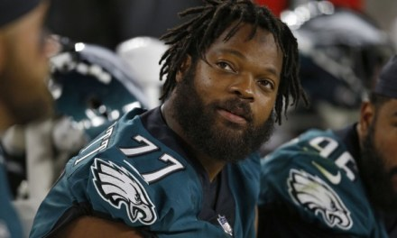 Eagles Defensive End Michael Bennett Took a Seat During the National Anthem