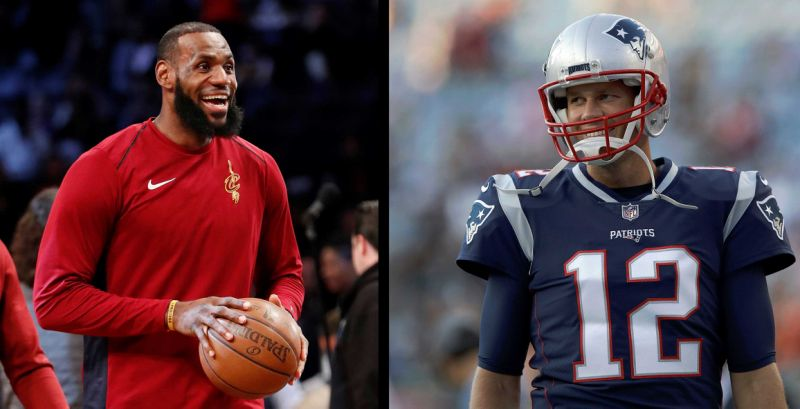 Tom Brady Trying to Recruit LeBron James to the Patriots