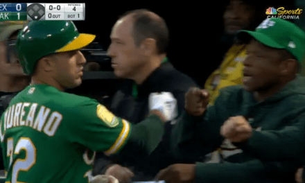 A's Leadoff Man Ramon Laureano Gets Fist Bump from Rickey Henderson