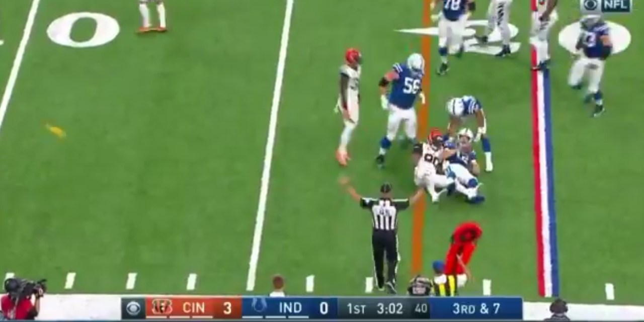Bengals Safety Shawn Williams was Ejected after a Helmet to Helmet Hit on Andrew Luck