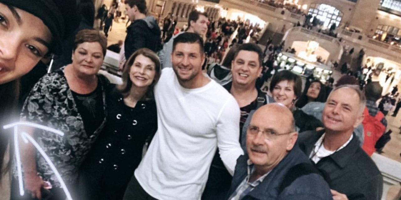 Tim Tebow Hanging with Demi-Leigh Nel-Peters and Family in New York