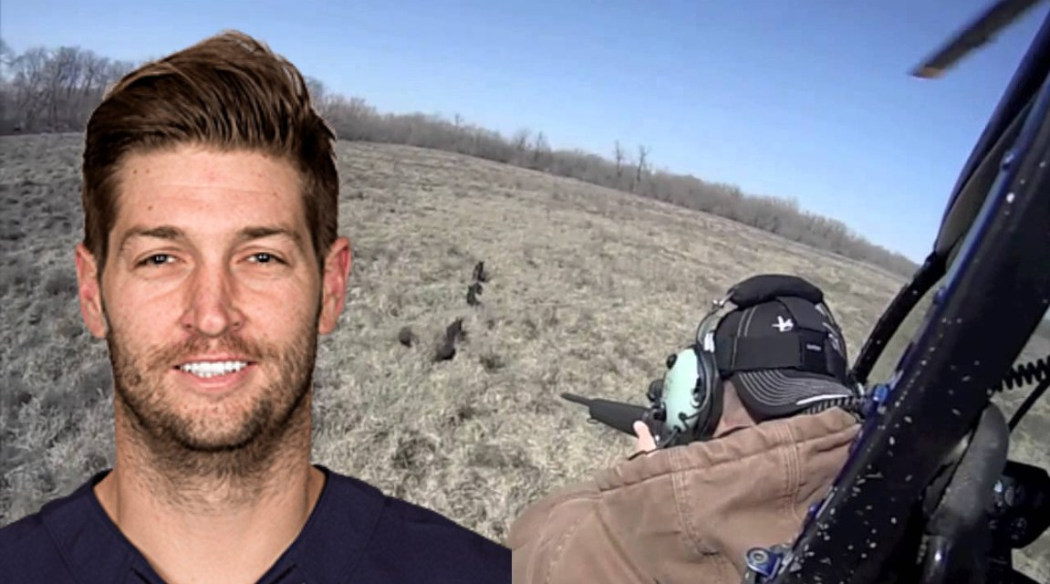 Jay Cutler Went hog Hunting In a Helicopter with an AR-15