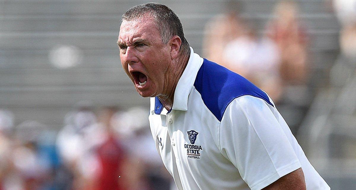 Georgia State Coach Shawn Elliott Gets Hurt Celebrating