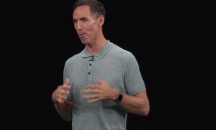 Steve Nash Does his Best Steve Jobs Impression at Apple Event