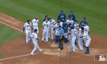 Umpire Stands on Home Plate After Todd Frazier Walk-Off Home Run to Make Sure He Touches the Plate
