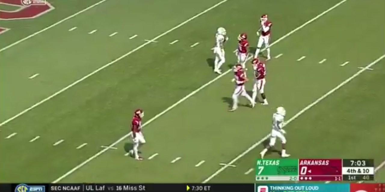 North Texas Steals a Touchdown on Fake Fair Catch Play