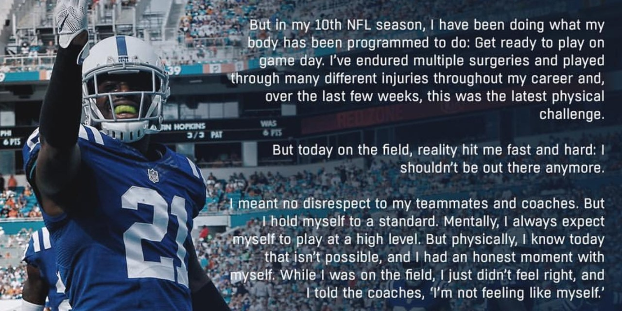 Vontae Davis Released a Statement on His Halftime Retirement