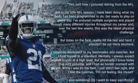 Vontae Davis Released a Statement on His Halftime Retirement