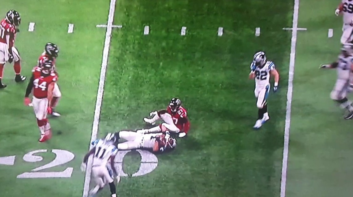 Cam Newton Takes a Huge Cheap Shot to the Head While Sliding
