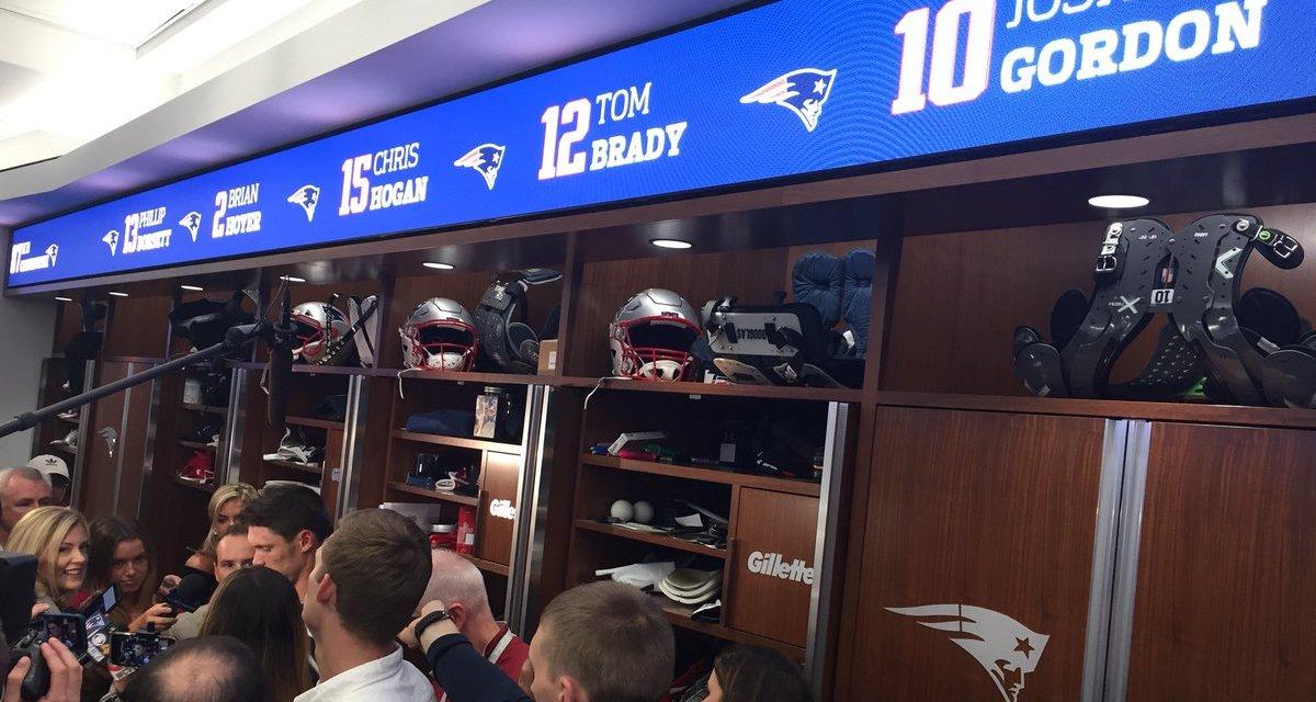 Josh Gordon Gets Locker Right Next To Tom Brady's In Patriots Locker Room
