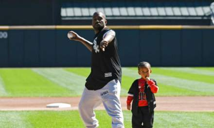 Kanye and Saint West Threw Out the First Pitch at Cubs vs. White Sox Game