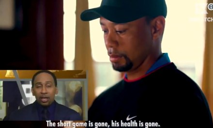 Tiger Woods Video of Him Watching his Doubters Isn't Real