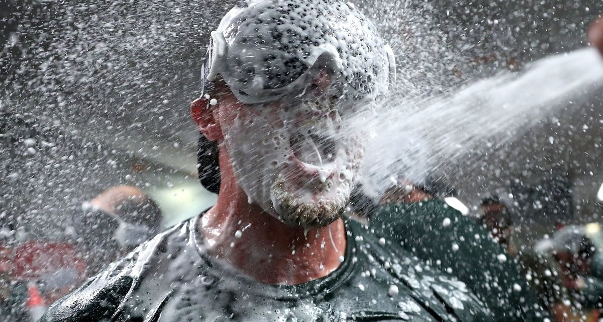 A's Clinch First Postseason Berth Since 2014 and Celebrate Accordingly
