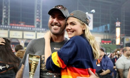 Kate Upton and Justin Verlander Celebrated Astros Division Title at a Watch Party