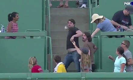 Red Sox Fan Threw a Giancarlo Stanton Home Run Back and Hit Stanton with It