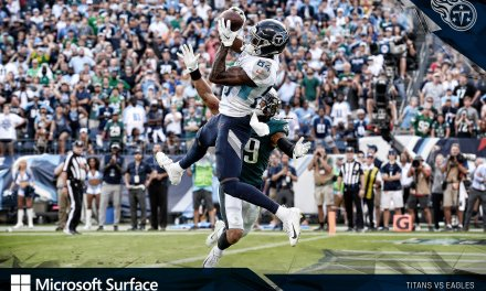 Titans Receiver Corey Davis Came Down with a Jump Ball to Beat the Eagles in Overtime