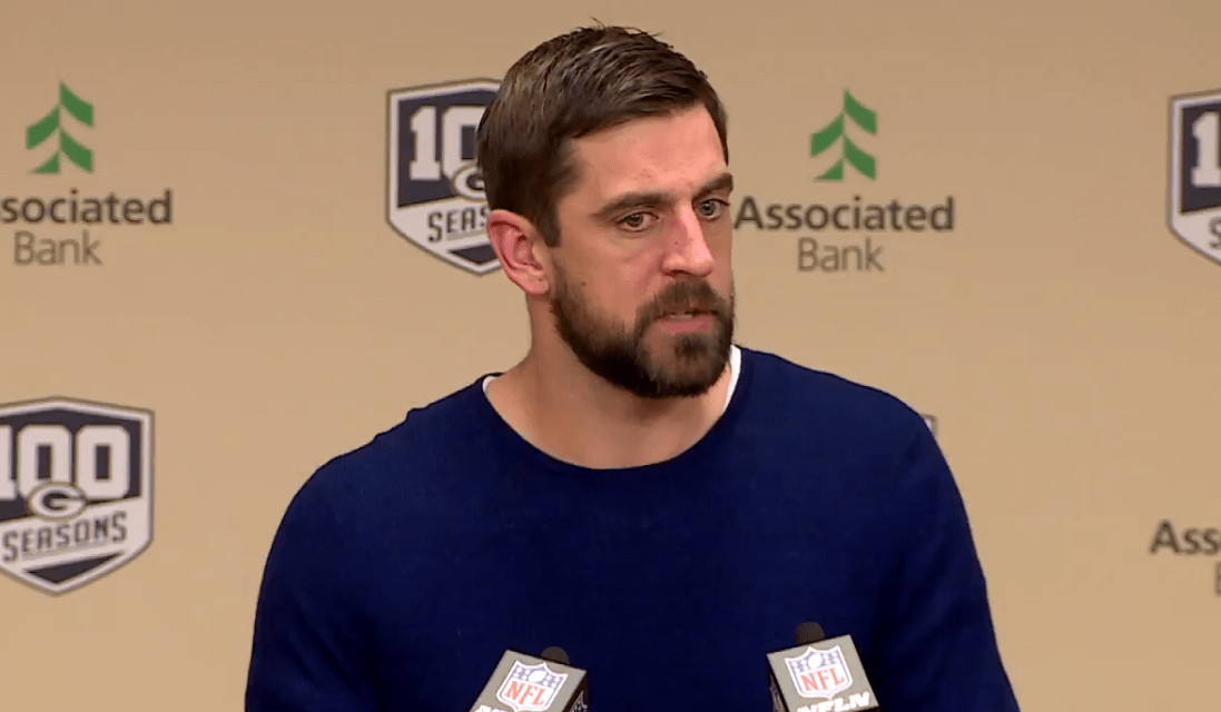 Salty Aaron Rodgers Wasn't Happy with the Play Calling Following 22-0 Win