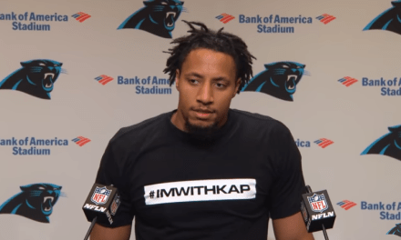 "Eric Reid Wore an ""#IMWITHKAP"" T-Shirt to His Introductory Press Conference, Undecided on Whether or Not He Will Continue to Protest"