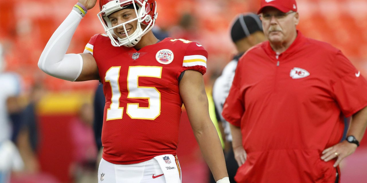 Andy Reid Does the Best Impression of Patrick Mahomes' Voice