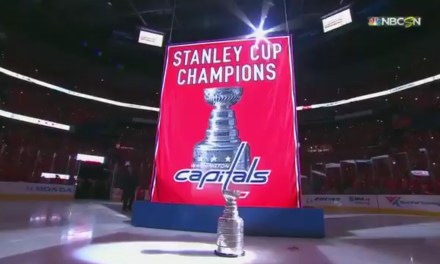 The Capitals Raised Their Stanley Cup Champions Banner