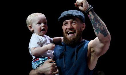 Conor McGregor Jr. Struts Like His Dad on Stage