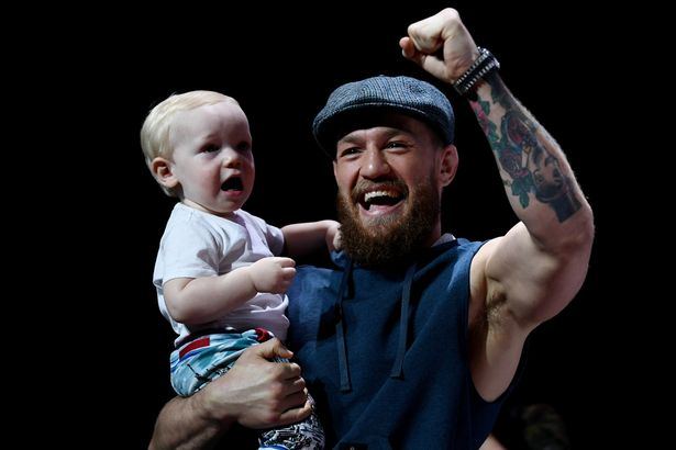 Conor McGregor Jr. Struts Like His Dad on Stage