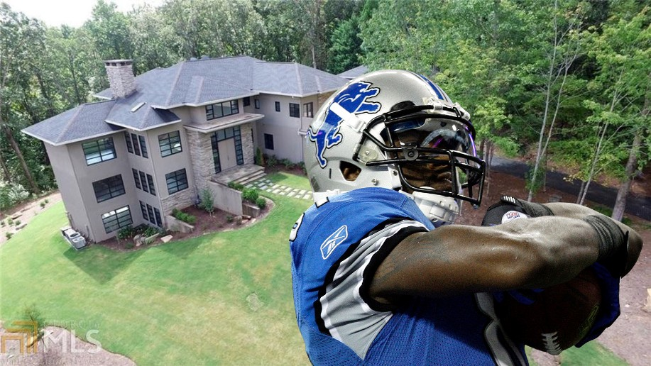 Calvin Johnson Puts his Georgia Mansion on the Market