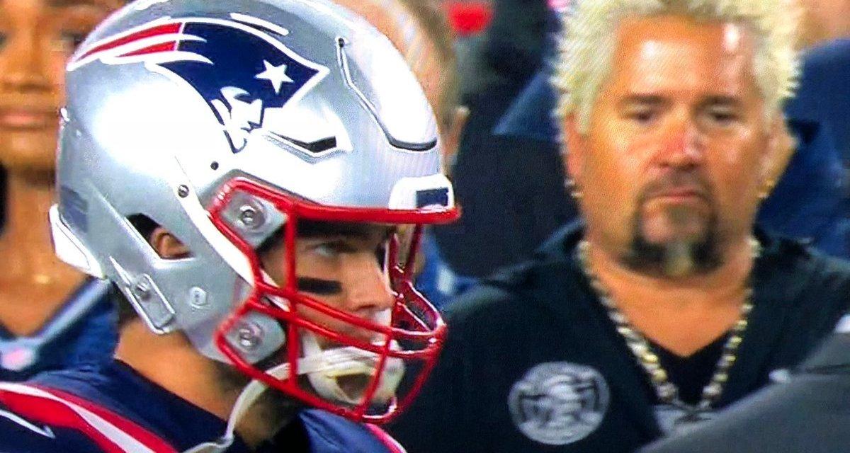 Guy Fieri Spotted On Patriots Sideline