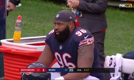 Bears Akiem Hicks Fined Over $33k for Contact with an Official