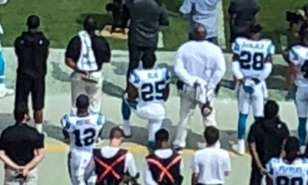Safety Eric Reid Took a Knee During the National Anthem Before His First Game with the Panthers