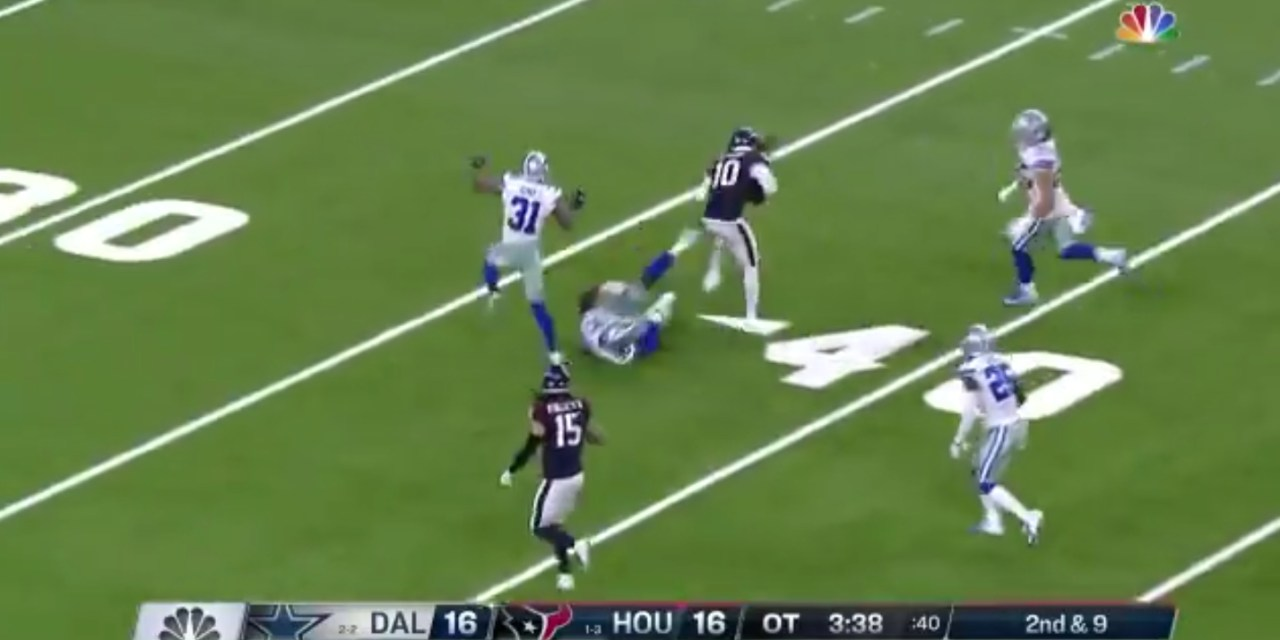 DeAndre Hopkins Put the Cowboys Defense on Spin Cycle to Setup the Texans Game Winning Field Goal