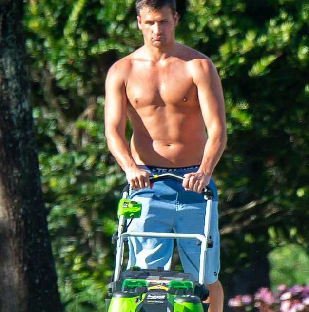 Ryan Lochte Spotted Mowing His Own Lawn After Revealing He's getting treatment for Alcohol Addiction