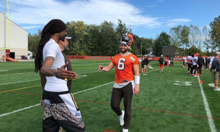 Snoop Dogg Attended The Cleveland Browns Practice