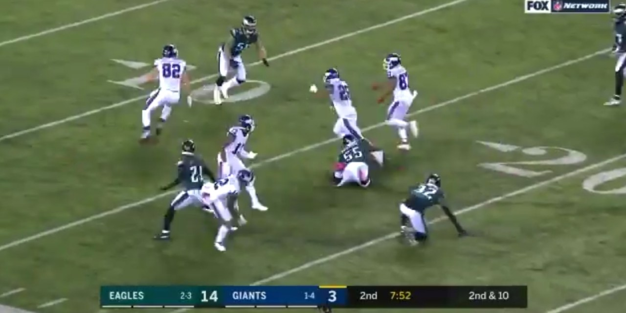 Saquon Barkley With an Incredible Run After the Catch