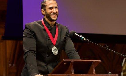 Colin Kaepernick Awarded the WEBDuBois Medal at Harvard University