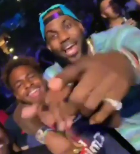 LeBron and Bronny James Living Their Best Father Son Life at Drake Concert