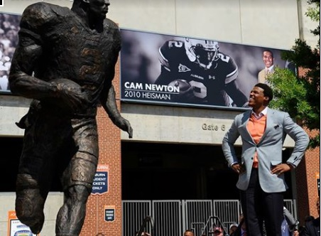 Cam Newton's Auburn Statue Was Defaced