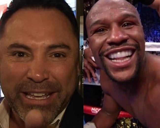 Floyd Mayweather Called Oscar De La Hoya 'Golden Girl' on Instagram and Oscar Has Responded