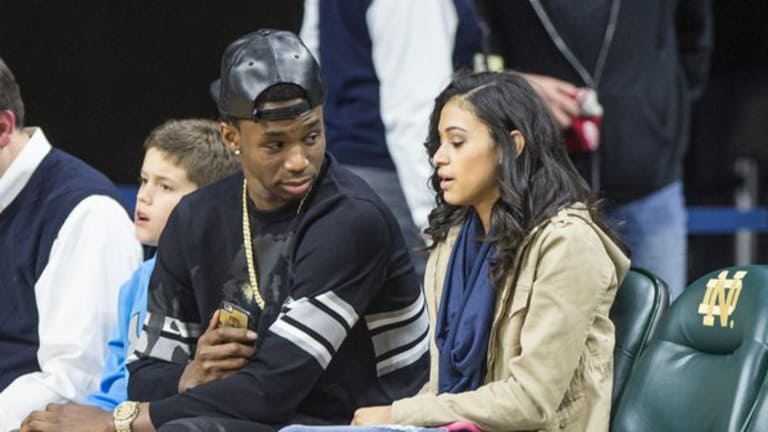 First Look at Andrew Wiggins and Mychal Johnson's Baby Girl