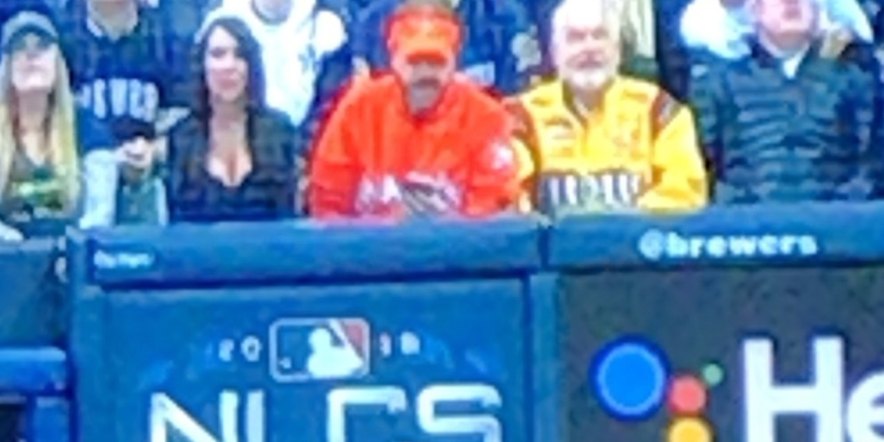 Front Row Amy is Joined by Fellow Superfans Marlins Man and the White Sox M&M Guy for Game 7 of the NLCS