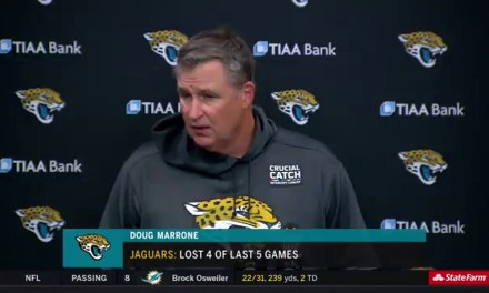 Jaguars Head Coach Doug Marrone Said Blake Bortles was Pissed that He was Benched