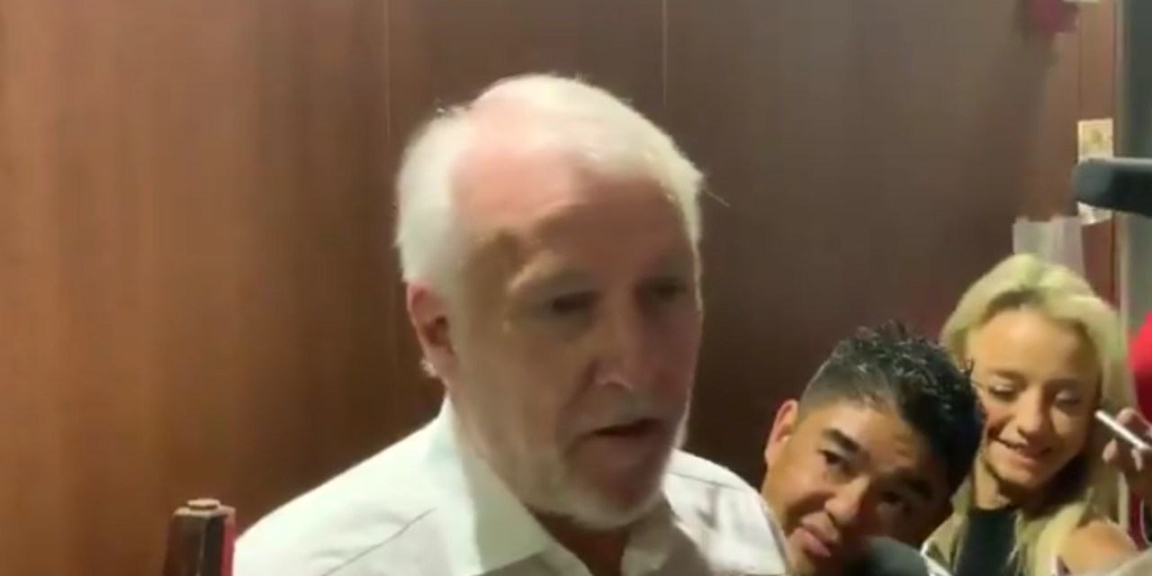 Gregg Popovich Jokes About Seeing LeBron's Face Outside His Hotel Room
