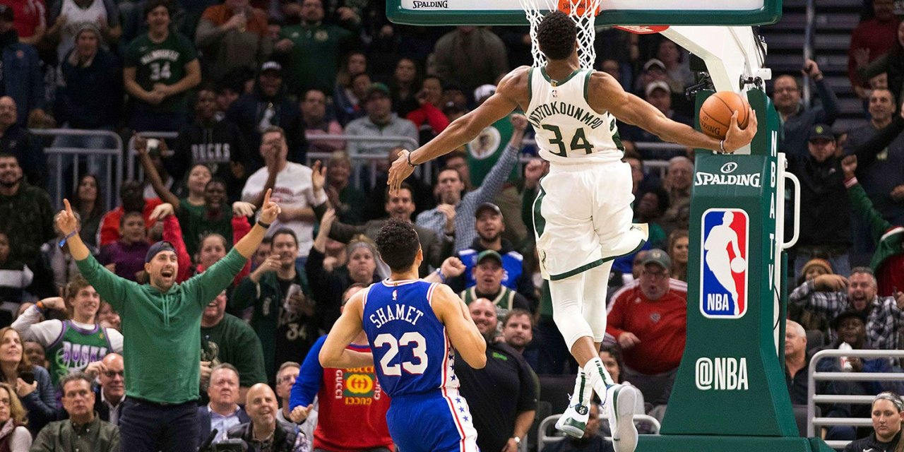 Giannis Antetokounmpo Threw Down a Monster Dunk after an Impressive Steal