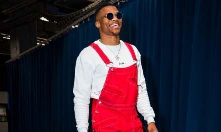 Russell Westbrook Showed Up for Thursday's Game Dressed Like Super Mario