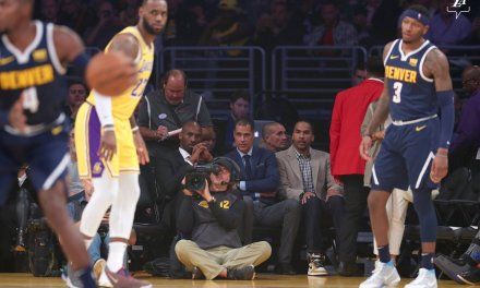 LeBron James Gets first L.A. triple-double With Kobe Bryant in Attendance