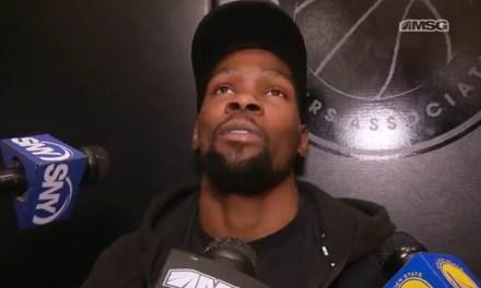 Kevin Durant Isn't Impressed by Knicks Recruitment Billboard