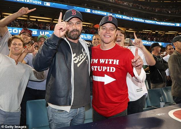 Ben Affleck Celebrates Red Sox World Series with Matt Damon