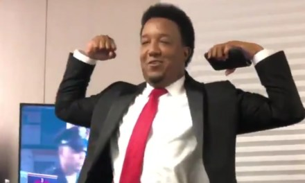 Pedro Martinez Celebrating the Red Sox World Series is Must See Footage
