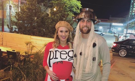 Adam Thielen and His Wife Announce Pregnancy with Halloween Costume