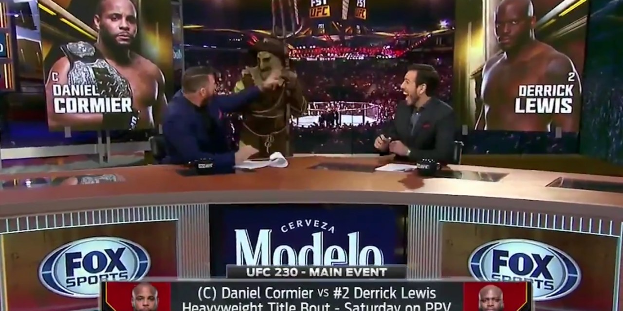 Michael Bisping Gets the Crap Scared Out of Him by a Scarecrow